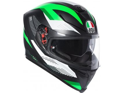 Prilba AGV K-5 S Marble Matt Black White Green