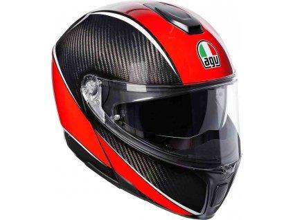 Prilba AGV Sportmodular Aero Carbon Red