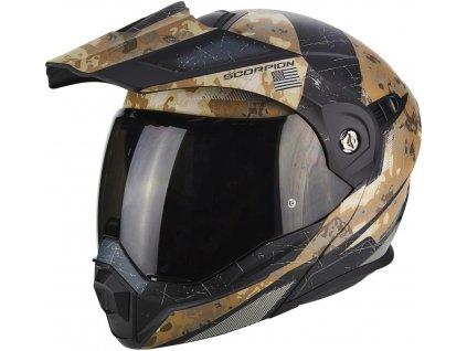 prilba na moto scorpion adx 1 battleflage