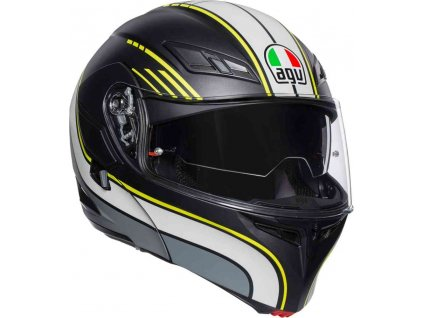 Prilba AGV Compact ST Boston Matt Black Grey Yellow