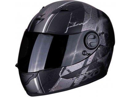 prilba na moto scorpion exo 490 dar matt black silver 1