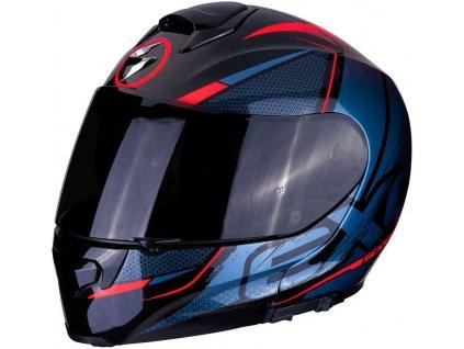 Prilba Scorpion EXO-3000 Air Creed Black Red