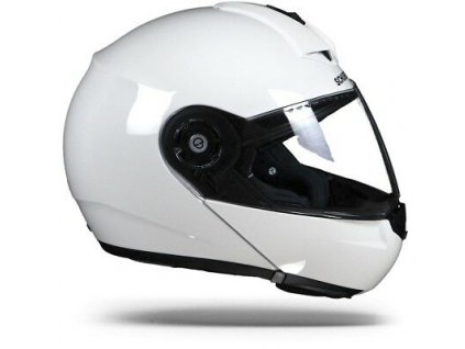 Schuberth C3 Pro Glossy White Flip Up Motorcycle 1