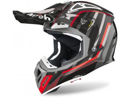 prilba na moto airoh aviator 2.3 ams2 glow black red grey