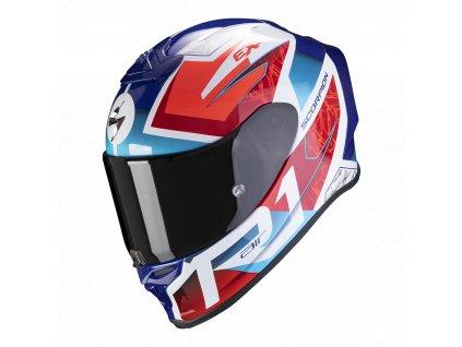 Prilba Scorpion EXO-R1 Air Infini White Red Blue