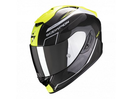 Prilba Scorpion EXO-1400 Carbon Air Beaux White Neon Yellow