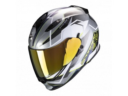 Prilba Scorpion EXO-510 AIR Balt Silver White Neon Yellow