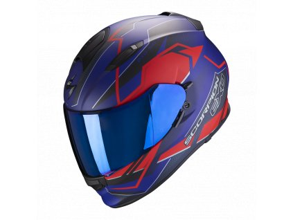 Prilba Scorpion EXO-510 AIR Balt Matt Blue Red
