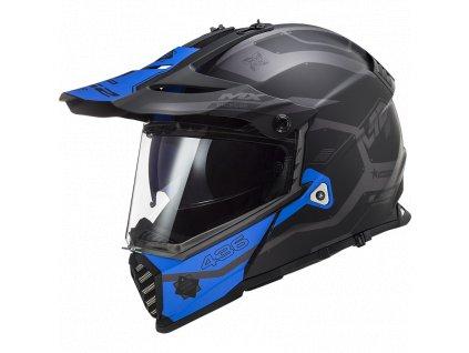 Prilba LS2 MX436 Pioneer Evo Cobra Matt Black Blue