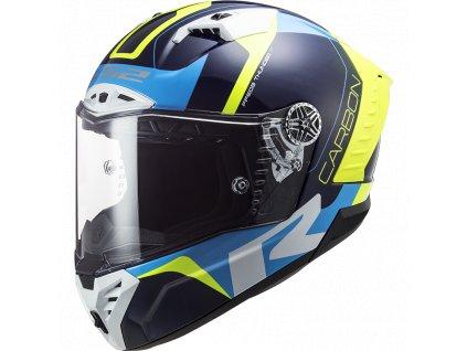 Prilba LS2 FF805 THUNDER C Racing1 GL.Bluw H-V YELLOW