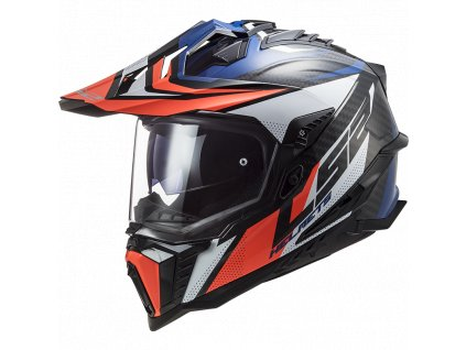 Prilba LS2 MX701 C Explorer FOCUS G.Blue White Red
