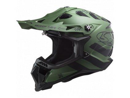 Prilba LS2 MX700 Subverter EVO Matt Military Green