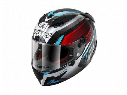 Prilba SHARK Race-R Pro Carbon ASPY Carbon Red Blue Chrome DRB