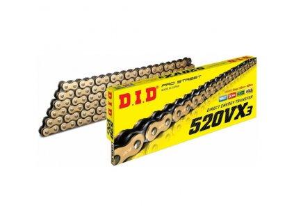 Reťaz D.I.D 520VX3 zlatá pre motocykle