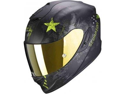 Prilba Scorpion EXO-1400 Air Asio Matt Black Neon Yellow