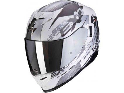 Prilba Scorpion EXO-520 Air Cover White Silver