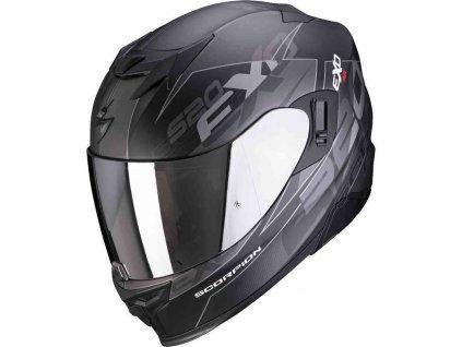 Prilba Scorpion EXO-520 Air Cover Matt Black Silver