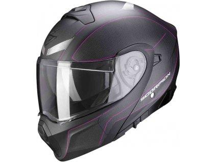 Prilba Scorpion EXO-930 Cielo Matt Black Pink