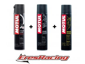 MOTUL SADA 5 = Chain lube ROAD+, Chain CLEAN, BRAKE clean