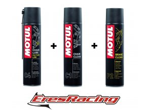 MOTUL SADA 6 = Chain lube FL, Chain CLEAN, BRAKE clean