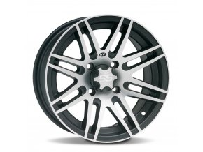 Disk ITP SS316, 12x7 (4+3) Matte Black w/ Machined 4/156