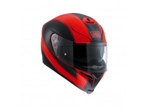 Prilba AGV K-5 S Enlace Red Matt Black