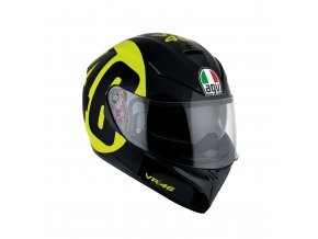 Prilba AGV K-3 SV Bollo 46 Black Yellow