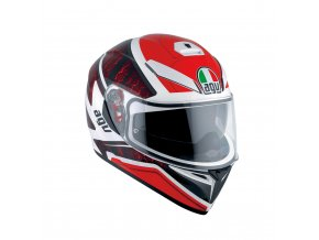 Prilba AGV K-3 SV Pulse White Black Red