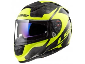 Prilba LS2 FF397 Vector Shine Carbon H-V Yellow
