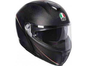 Prilba AGV Sportmodular Tricolore Matt Carbon Italy