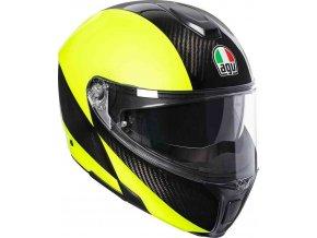 Prilba AGV Sportmodular Hi-Vis Carbon Yellow Fluo