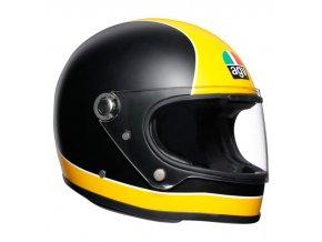 prilba na moto agv x3000 super agv matt black yellow