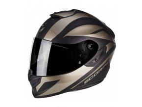 prilba na moto scorpion exo 1400 freeway matt black titanium