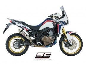 Výfuk SC Project Honda CRF 1000L Africa Twin Celý výfukový systém 2-1 GP 65 H16-TC65T