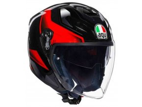 Prilba AGV K-5 Jet Roket Black Grey Red