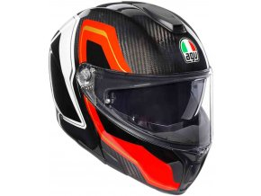Prilba AGV Sportmodular Sharp Carbon Red White