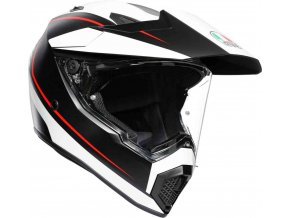 Prilba AGV AX-9 Pacific Road Matt BlackWhite Red