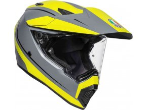 Prilba AGV AX-9 Pacific Road Matt Grey Yellow Fluo Black