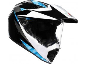 Prilba AGV AX-9 North Black White Cyan