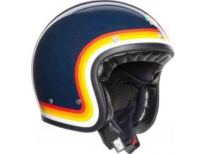 Prilba AGV X70 Riviera Blue Rainbow
