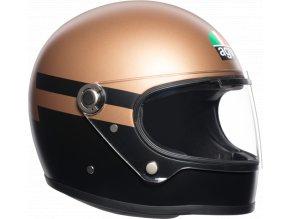 prilba na moto agv x3000 superba gold black