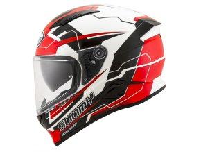 Prilba SUOMY Speedstar Camshaft Black White Red