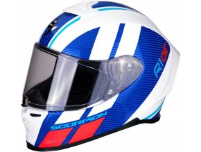 Prilba Scorpion  EXO-R1 Air Corpus White Blue Red
