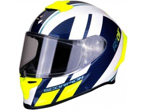 Prilba Scorpion  EXO-R1 Air Corpus White Blue Neon Yellow