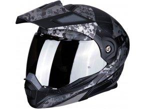 Prilba Scorpion ADX-1 Battleflage Black Silver