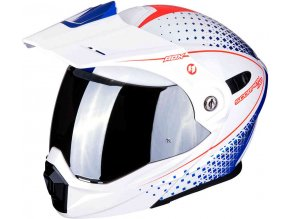 Prilba Scorpion ADX-1 Horizon Pearl White Red Blue