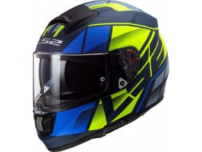 prilba na moto ls2 ff397 vector krypton matt blue hi vis yellow
