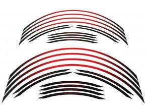 Polep okrajov kolies Valtermoto RR04 červená