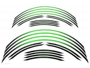 Polep okrajov kolies Valtermoto RR04 zelená KAWA