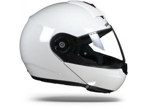 Schuberth C3 Pro Glossy White Flip Up Motorcycle 1